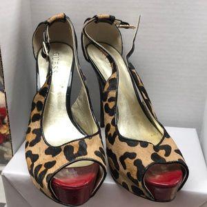 guess leopard heels